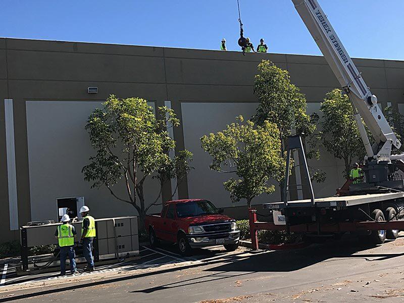 San Diego Refrigeration Crane Roof Unit Installation Image