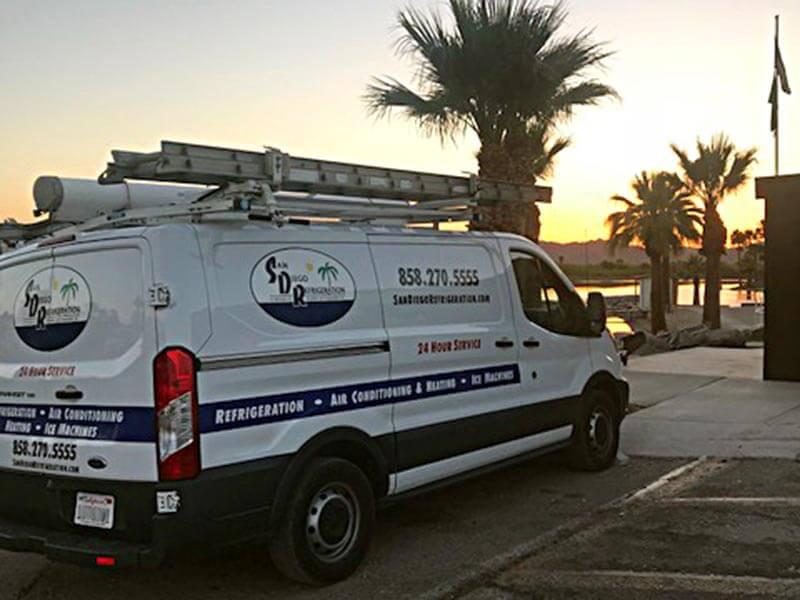 San Diego Refrigeration Van Image